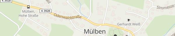 Karte E-Tankstelle Waldbrunn-Mülben