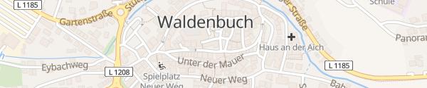 Karte Rathaus Waldenbuch