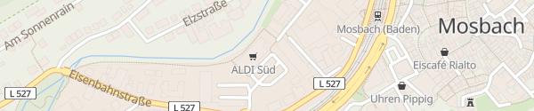 Karte ALDI Süd Eisenbahnstraße Mosbach