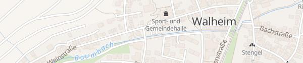 Karte Parkplatz am Baumbach Walheim