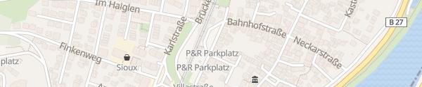 Karte Parkplatz Bahnhof Walheim