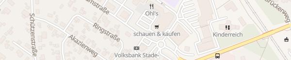Karte Zentrumstraße Hemmoor