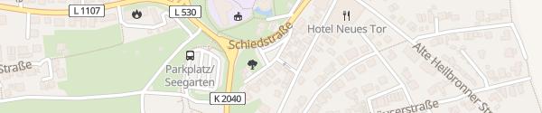 Karte Parkplatz Klingengasse Bad Wimpfen