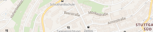 Karte Stadtbad Heslach Stuttgart