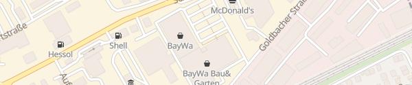 Karte BayWa Baumarkt Aschaffenburg