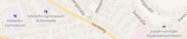 Karte Wiederholdstraße Stuttgart