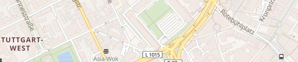 Karte HPC Parkplatz Rotebühlhof / Finanzamt Stuttgart