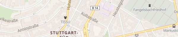 Karte Park Inn Stuttgart