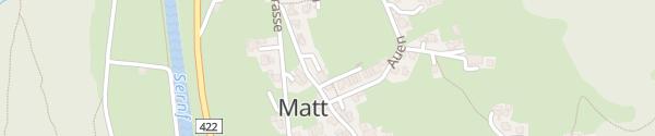 Karte Luftseilbahn Matt-Weissenberg Matt