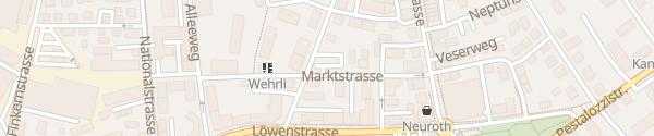 Karte Parkplatz Marktstrasse Kreuzlingen