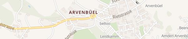Karte Bushaltestelle Arvenbüel Amden