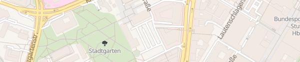 Karte HPC Parkplatz Keplerstraße P1 Stuttgart