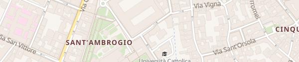 Karte Via Santa Valeria Milano