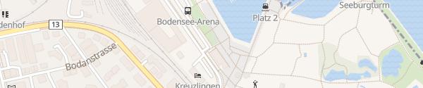 Karte Parkplatz Hafen Kreuzlingen