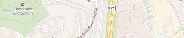 Karte Wilhelm-Blos- / Friedrich-Ebert-Straße Stuttgart