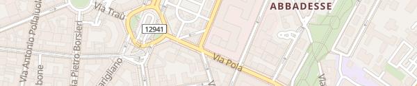 Karte Via Taramelli Milano