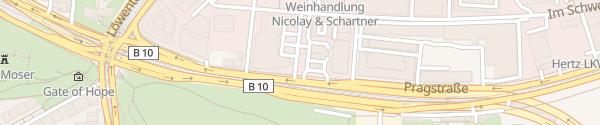 Karte BMW Niederlassung Filiale Rosensteinpark Stuttgart