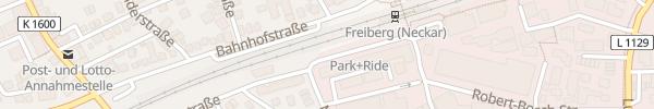 Karte Bahnhof Süd Freiberg am Neckar