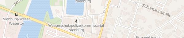 Karte Parkhaus am Hafen Nienburg
