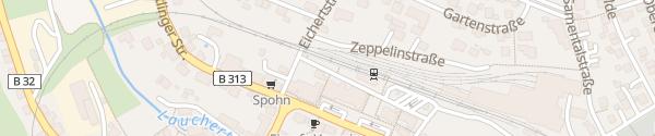 Karte Bahnhof Gammertingen