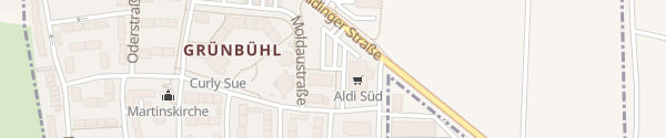 Karte ALDI Süd Ludwigsburg