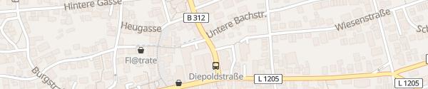Karte Diepoldstraße Filderstadt