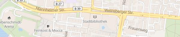 Karte Parkhaus Theaterforum K3 Heilbronn