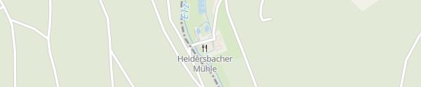 Karte Landgasthof Heidersbacher Mühle Elztal-Rittersbach