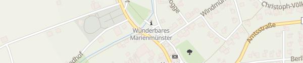 Karte Parkplatz Angerberg Marienmünster
