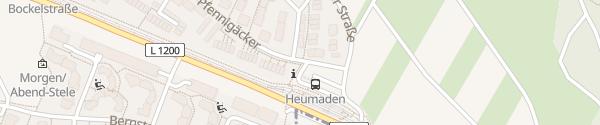 Karte P+R Heumaden Stuttgart