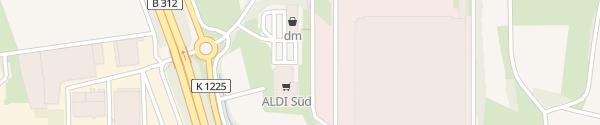 Karte ALDI Süd Aichtal
