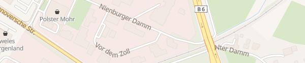 Karte Autohaus am Damm Nienburg