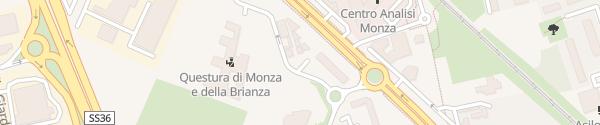 Karte Via Montevecchia Monza