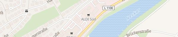 Karte ALDI Süd Aldingen Remseck am Neckar