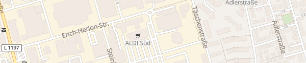 Karte ALDI Süd Fellbach