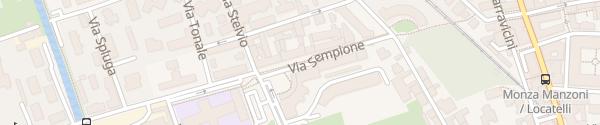 Karte Via Sempione Monza