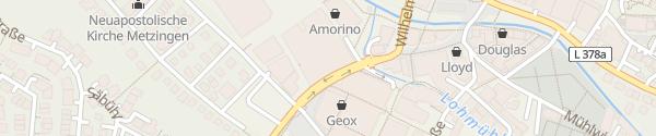 Karte OUTLETCITY Parkhaus P1 Metzingen