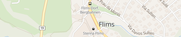 Karte Parkhaus Stenna Flims