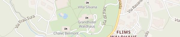 Karte Waldhaus Flims Alpine Grand Hotel Flims Waldhaus