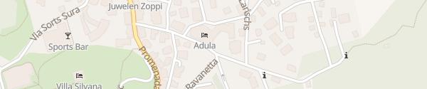 Karte Hotel Adula Flims Waldhaus