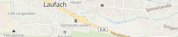 Karte Rathaus Laufach