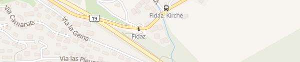 Karte Hotel und Restaurant Fidazerhof Fidaz