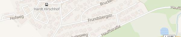 Karte Frundsbergstraße Nürtingen