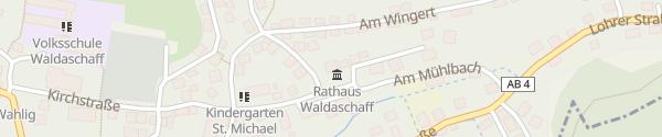 Karte Gemeindeverwaltung Waldaschaff