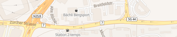 Karte Hotel New Star Sankt Gallen