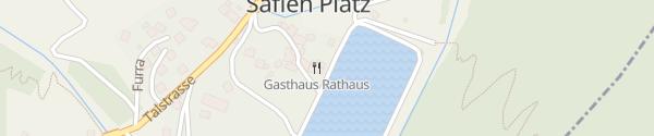 Karte Gasthaus Rathaus Safien Platz