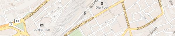 Karte Gaiser Bahnhof St.Gallen