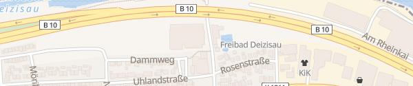 Karte Sporthalle/Freibad Deizisau