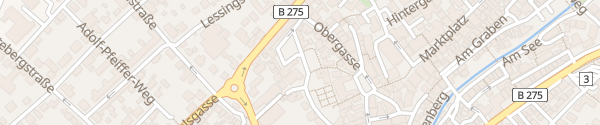 Karte Parkplatz Alter Esel Lauterbach