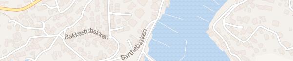 Karte Hafen Kragerø